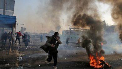 Photo de Affrontements et blessures entre manifestants irakiens et forces de l'ordre