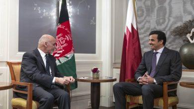 صورة الرئيس الأفغاني يصل الدوحة