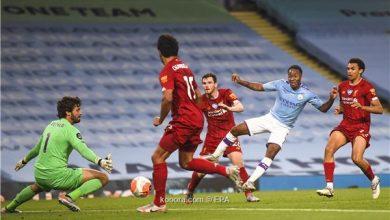 صورة مباراة قمة بين مانشستر سيتي وليفربول