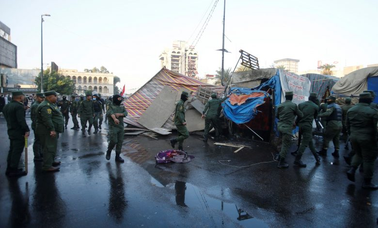 اشتباكات بين المتظاهرين وقوى الأمن في العراق