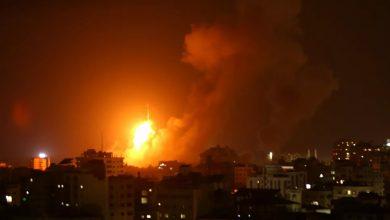 صورة غارات اسرائيلية على مواقع فلسطينية في غزة