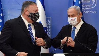 صورة بومبيو أول وزير خارجية يزور المستوطنات الإسرائيلية ويشرعن منتجاتها