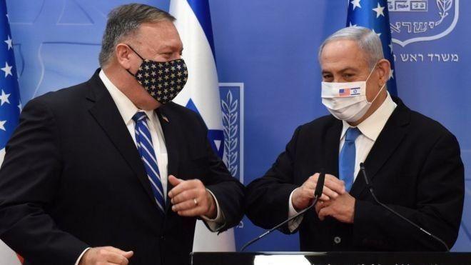 بومبيو أول وزير خارجية يزور المستوطنات الإسرائيلية ويشرعن منتجاتها