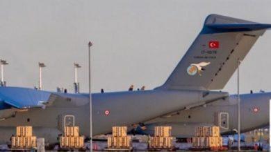 صورة ثلاث طائرات شحن عسكرية تركية تتجه إلى غرب ليبيا