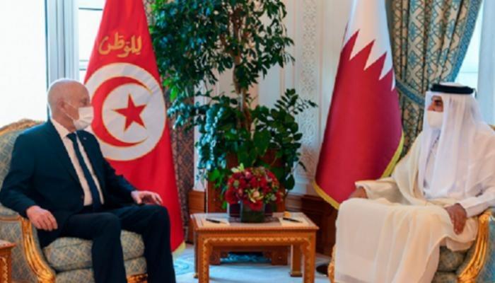 قيس سعيد - قطر