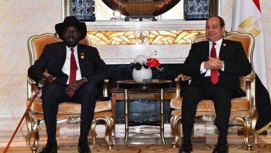 الرئيس المصري رئيس جمهورية جنوب السودان