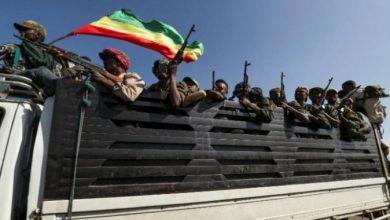 "Photo of Ethiopia Spokenman: ""we controled Adigrat , and were now heading to Mekelle"""