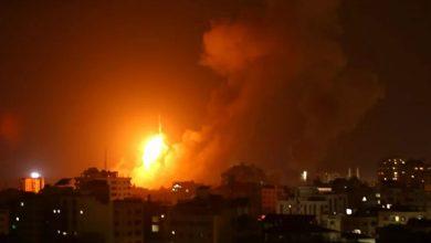 Photo of Israeli warplanes bomb Hamas positions in Gaza Strip