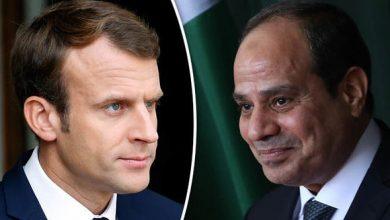 صورة الرئيسان المصري والفرنسي يتباحثان في الأزمة الليبية ومكافحة الإرهاب