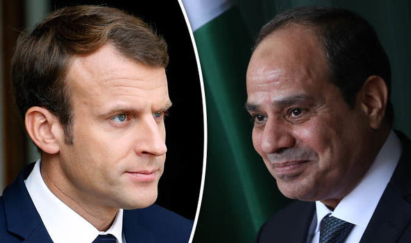 الرئيسان المصري والفرنسي