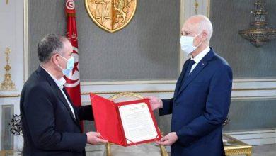 صورة الرئيس التونسي يؤيد مبادرة اتحاد الشغل للحوار الوطني