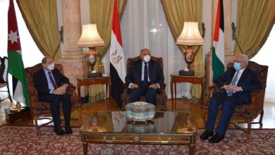 Photo of Palestine, Egypt, Jordan Foreign Ministers Discuss ways to reach a settlement on the Two-State Solution