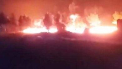 صورة المقاتلات الروسية تقصف قافلة نفط مهرّب في طريقها إلى تركيا