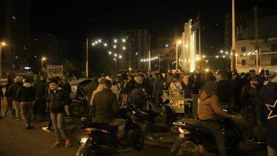 صورة مواجهات عنيفة بين المتظاهرين وقوات الأمن اللبنانية