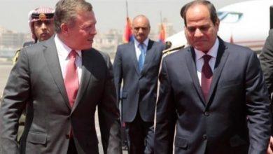 صورة قمة ثنائية تجمع الرئيس المصري بالعاهل الأردني