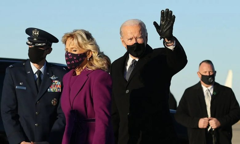 Photo of Biden arrives  in DC on eve of inauguration ceremony