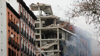 Photo of Spain: A powerful Blast destroys building in central Madrid