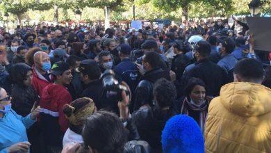 Photo de Tunisie: Une manifestation appelant à la destitution du mouvement  Ennahdha du pouvoir