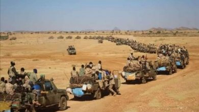 صورة حشود عسكرية أرتيرية على الحدود مع السودان