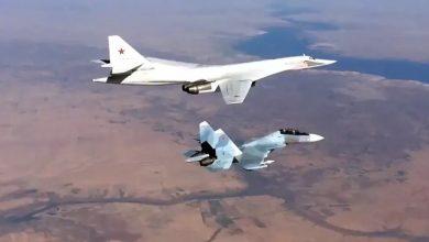 """صورة المقاتلات الروسية تشن غارات على أوكار """"الدواعش"""" في البادية السورية"""
