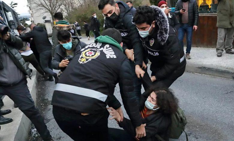 احتجاجات طلابية في تركيا