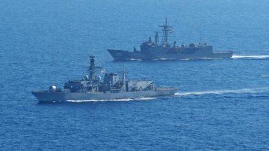 صورة البحرية المصرية والإسبانية تجريان مناورات في البحر الأحمر