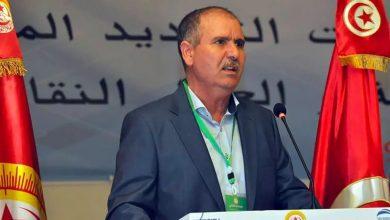صورة تهديدات بالقتل لرئيس اتحاد الشغل التونسي