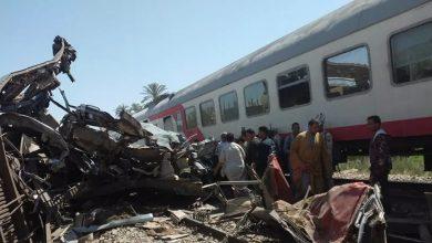 تصادم قطاريين في صعيد مصر