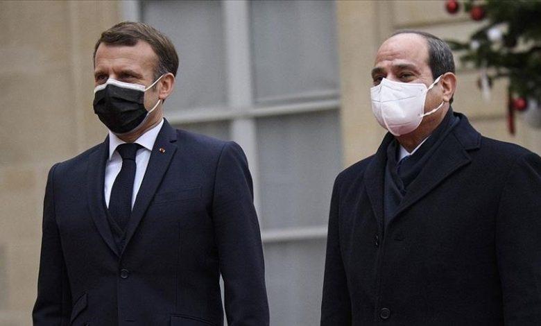 Al-Sissi et Macron la crise libyenne