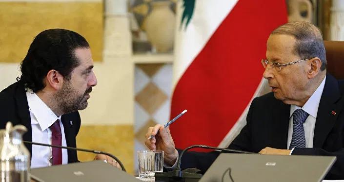 Aoun et Hariri