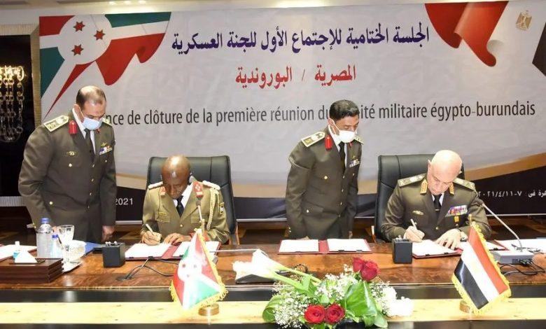 مصر توقع اتفاقاً للتعاون العسكري مع بورندي