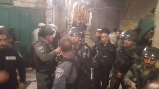Jérusalem les forces israéliennes