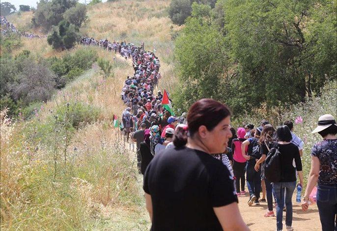 الفلسطينيون في 48 يشاركون في مسيرة العودة