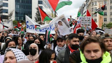 مظاهرات مؤيدة للفلسطينيين